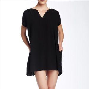 Lush Black shift mini dress